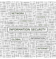 INFORMATION SECURITY vector image