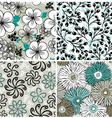 Set of flowers backgrounds vector image vector image
