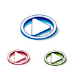 3d glossy play icon vector image