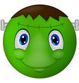 Zombie Emoticon smiley vector image