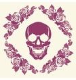 Skull in the frame of roses vector image