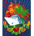 ocean cruise poster vector image vector image