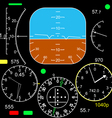 control panel vector image vector image