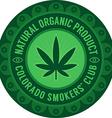 Colorado smokers club emblem vector image