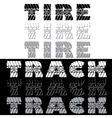Tire track black and white text vector image vector image