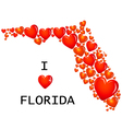 Florida State with hearts vector image vector image