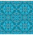 Abstract seamless pattern with vintage blue vector image