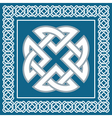 Celtic knotsymbol represents four Earth elements vector image