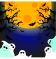 five friendly ghosts vector image