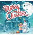 Merry Christmas with presents vector image