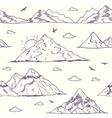 Mountain doodle seamless vector image