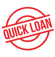 quick loan rubber stamp vector image