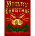 Vintage Christmas Card with hand drawn lettering vector image
