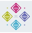 Colorful plastic buttons for infographic vector image