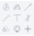 Outline stroke Camping icons vector image vector image