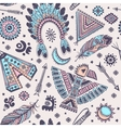 seamless pattern with native American vector image