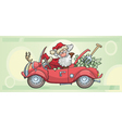 santa claus and money vector image