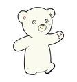 comic cartoon polar bear cub vector image