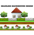 Seamless background design with houses vector image