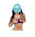 rap girl in a cap vector image vector image