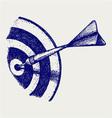 Arrow in target vector image