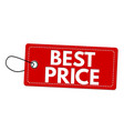 best price red label or price tag vector image
