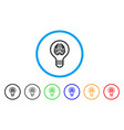 brain bulb rounded icon vector image
