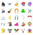 fantasy icons set cartoon style vector image