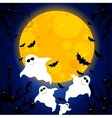 four friendly ghosts vector image