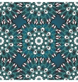 Green and blue mandala seamless vector image