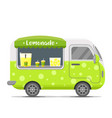lemonade street food caravan trailer vector image