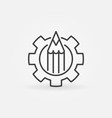 pencil in gear icon vector image