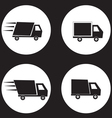 shipping truck vector image
