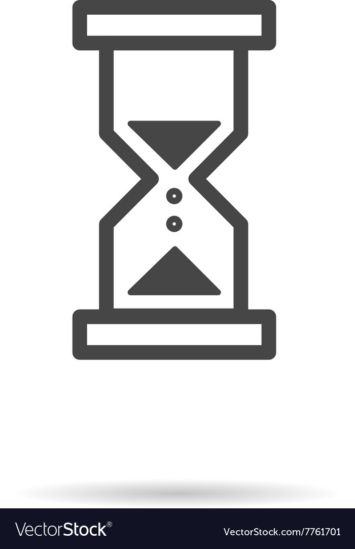 Flat icon of hourglass vector