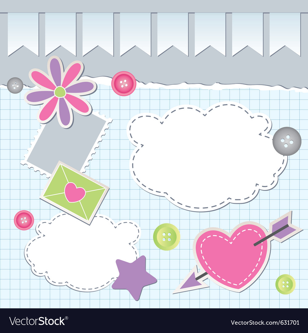 Scrapbook elements vector
