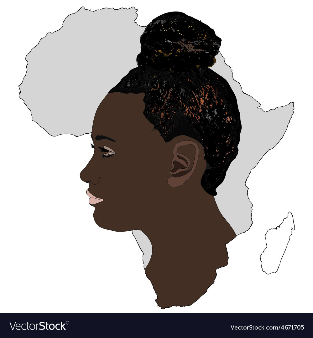 Africa and its women vector