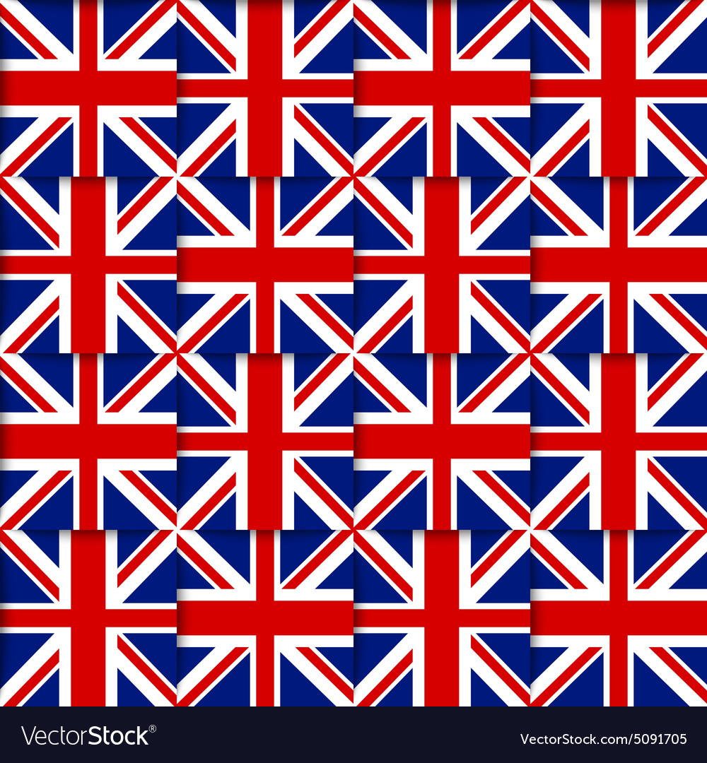 British seamless pattern vector