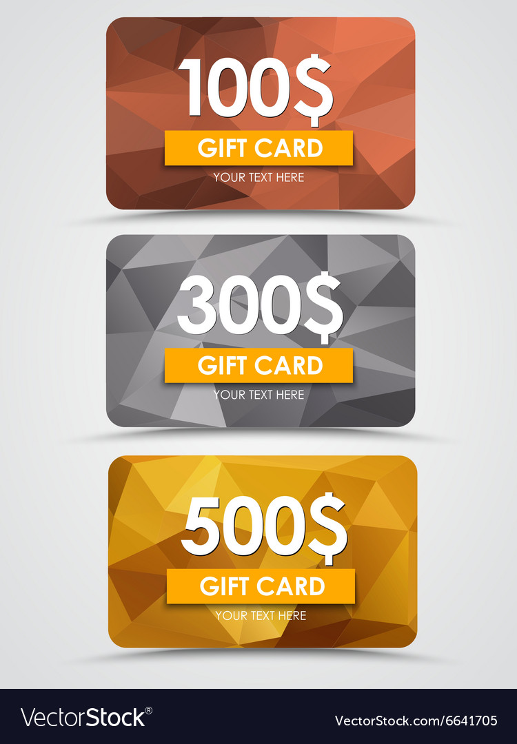 Design gift cards vector