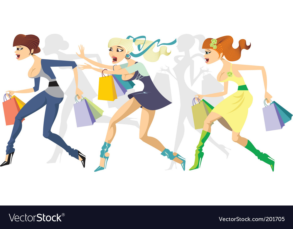 Shopping maraton vector