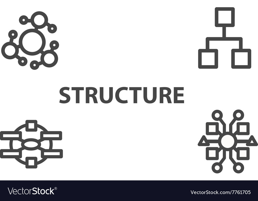 Structure icon from business bicolor set vector