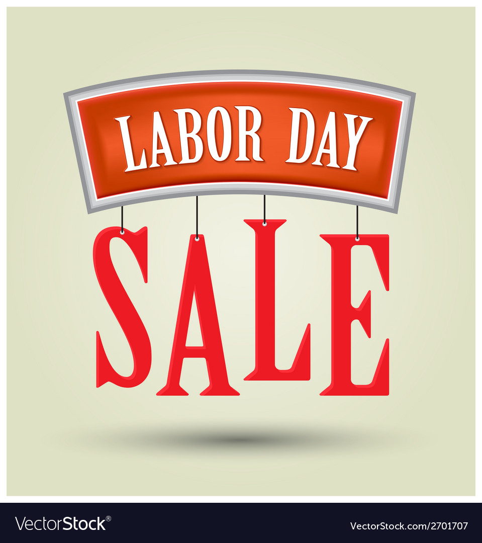 Labor day sale vector