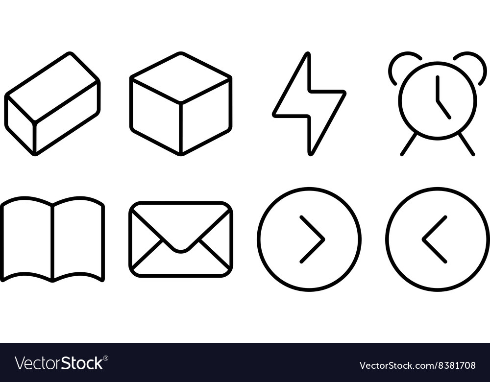 Outline ui pack11 vector
