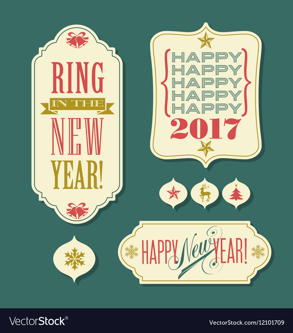 New year 2017 champagne bottle bursting stars vector