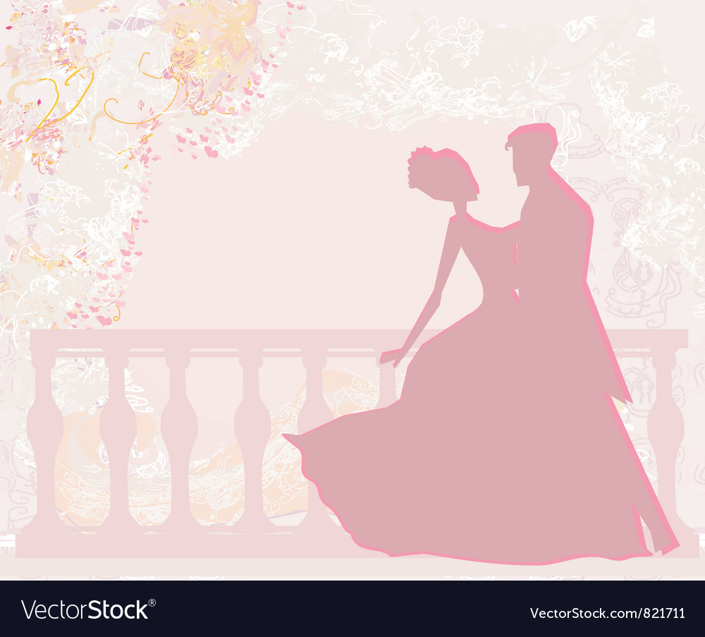 Ballroom dancers  invitation vector