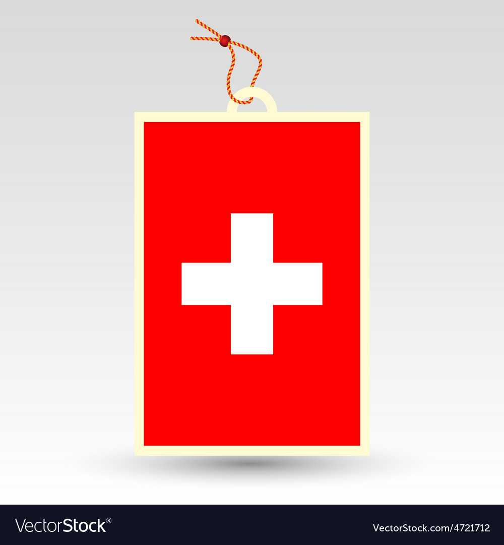 Swiss made in tag vector