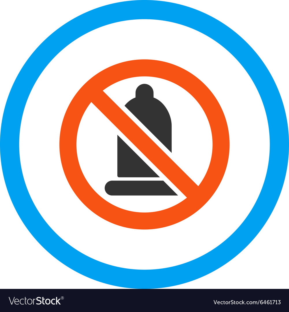 Forbidden condom rounded icon vector