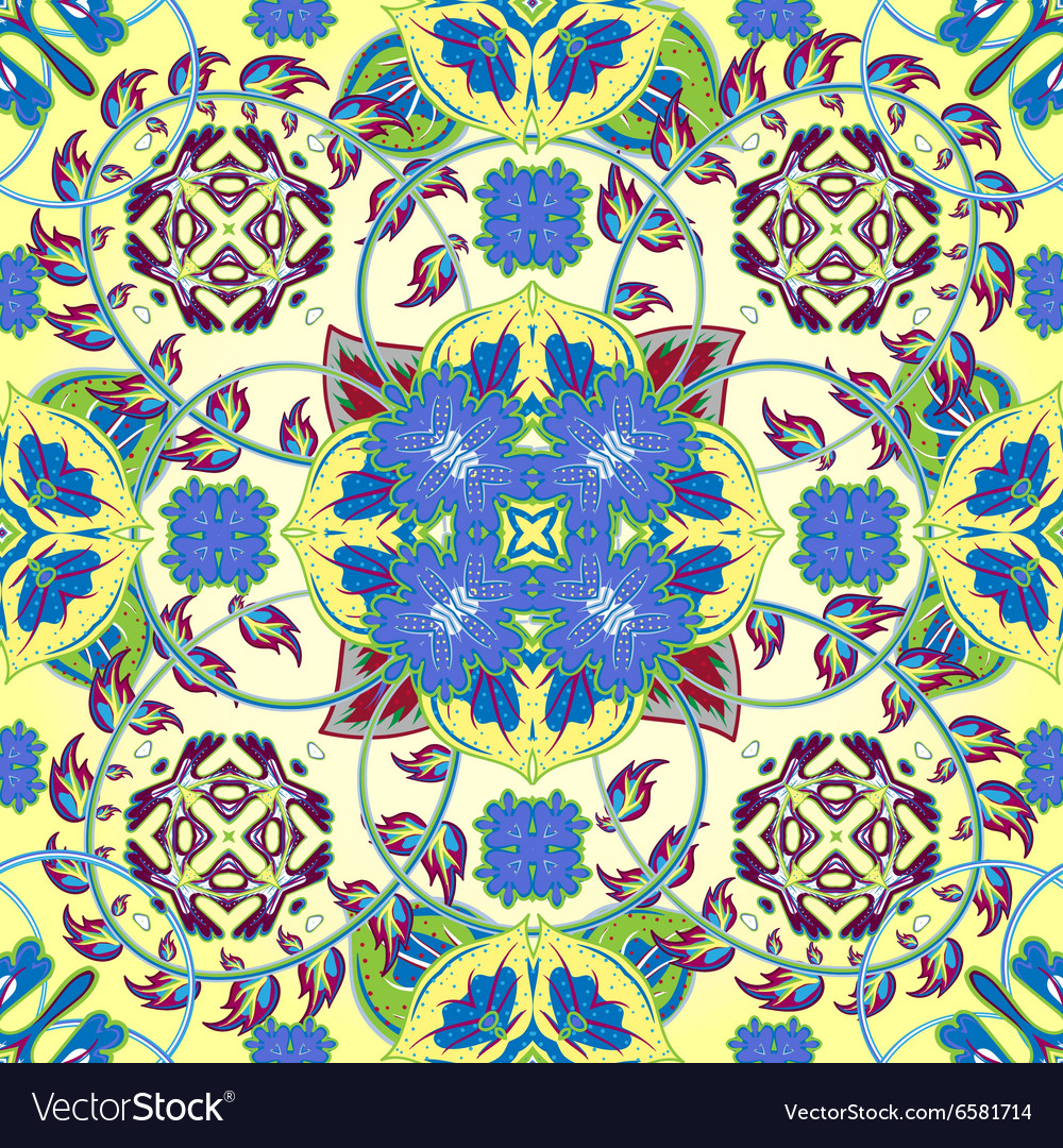 Italian traditional ornament mediterranean vector
