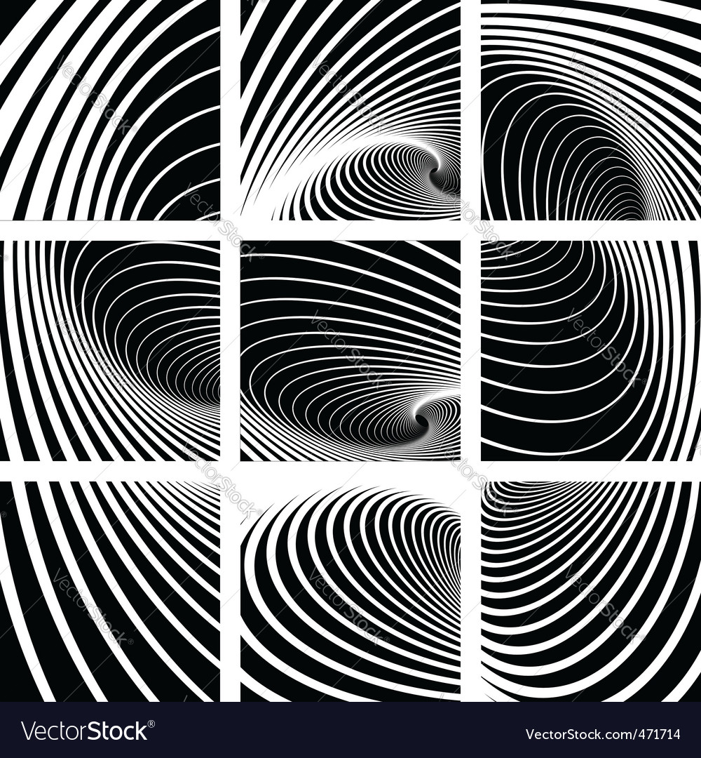 Whirl movement abstract backdrops set vector