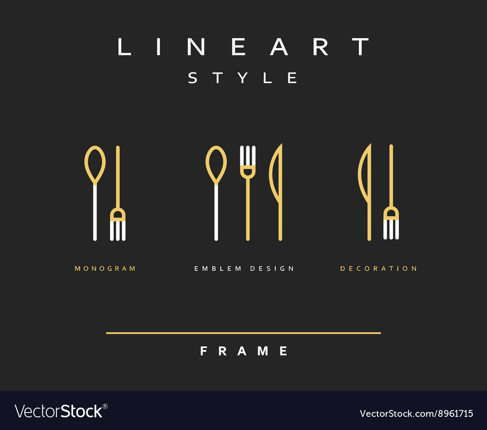 Icon knife fork and spoon vector