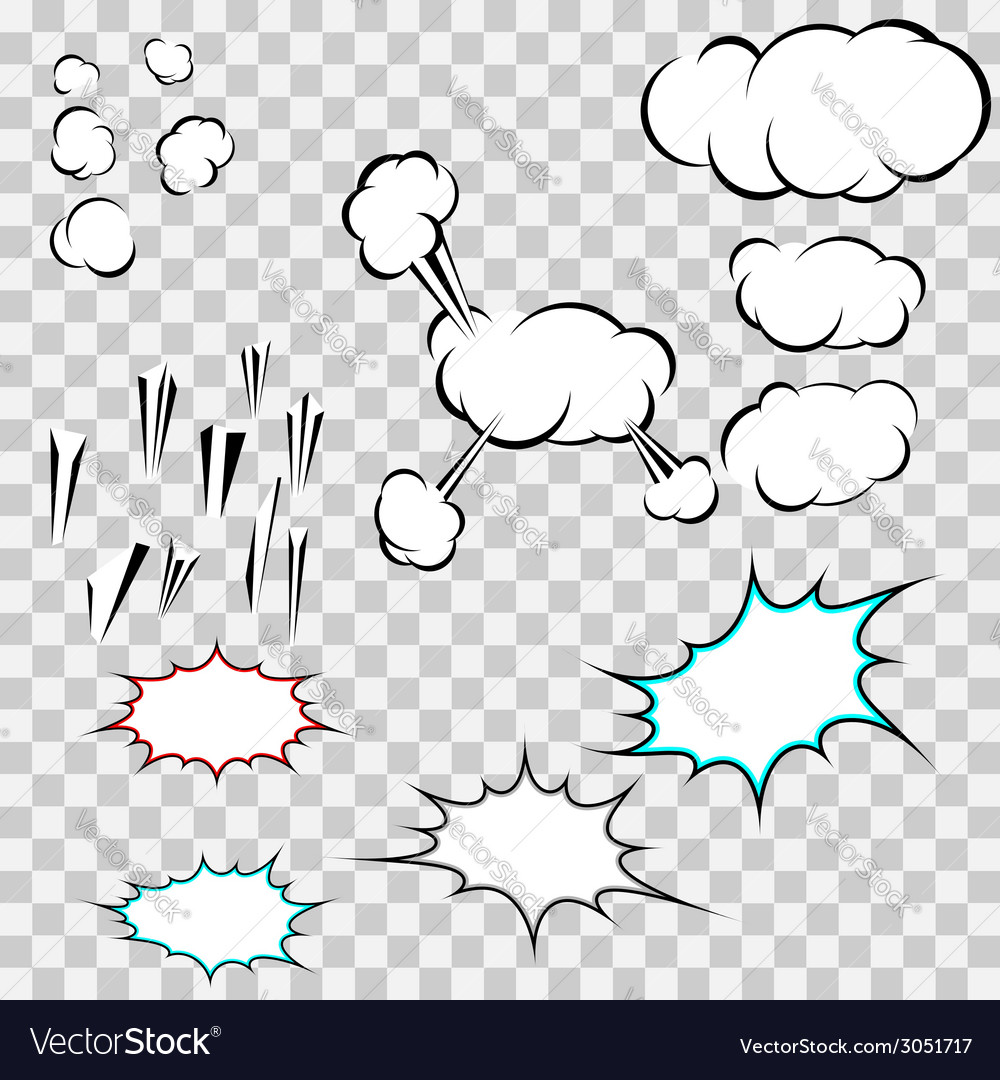Make your own explosion clouds pack vector